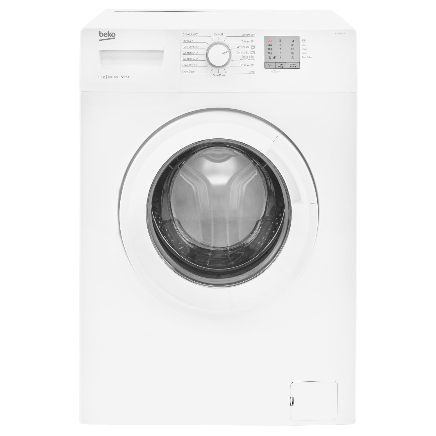 Beko 1200 Spin 6kg Washing Machine WTG620M2W